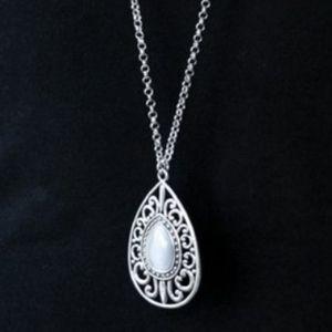 """""""Modern Majesty"""" - Gray Moonstone Necklace Set"""